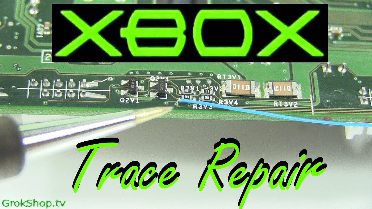medium resolution of original xbox trace corrosion repair how to fix
