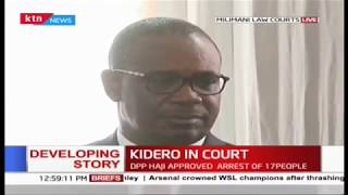 Kidero and Co-accused in court over an alleged corruption case