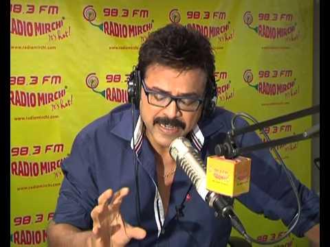 "Victory Venkatesh's ""Masala movie"" ""hilarious english interview"" at Radio Mirchi Hyderabad"
