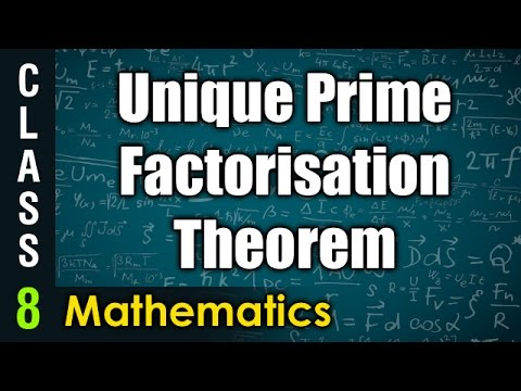 Unique Prime Factorisation Theorem | 8th Class Mathematics  | Digital Teacher