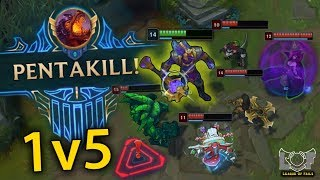 Best Pentakill Montage #23 - League of Legends (1v5 Nasus, Perfect Yasuo, Pro Pyke, Teemo) | LoL