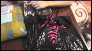 Обзор женского  секси костюма и кофточки