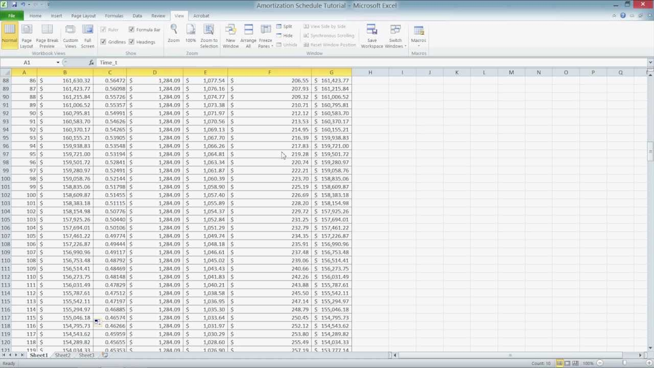 Excel amortization template 2010 calculate mortgage loan for Amortization formula excel template