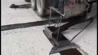 Slurry Seal Crack Sealing