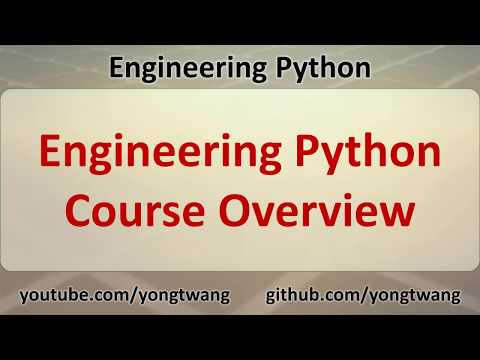 01 Engineering Python Course Overview