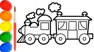 Gambar Kereta Api Untuk Mewarnai Cara Menggambar Kereta Api Belajar Mewarnai Gambar Youtube