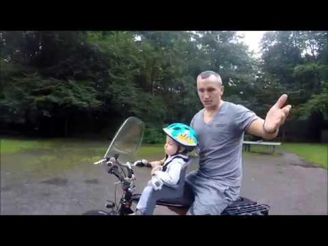 Обзор на детское переднее велокресло/сиденье 2016