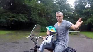 видео детское кресло на велосипед