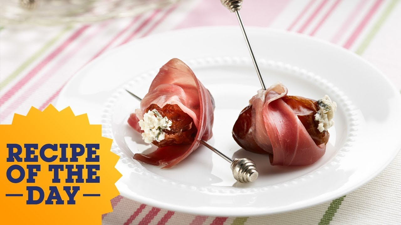 Giada\'s Cheese-Stuffed Dates with Prosciutto | Food Network - YouTube