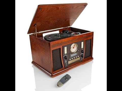 Superior Style 5in1 Wooden Cabinet Turntable With CD Recorder