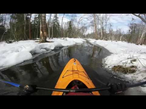 Сплав на каяке по реке Волгуша (верховья) 18 марта 2017 года (18.03.2017)