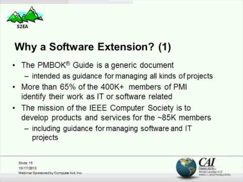 The Software Extension To The PMBok Guide 5th Edition