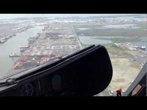 Port Fourchon, Louisiana, from EC135 Helicopter