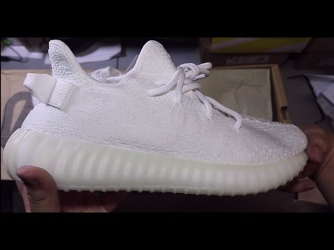 16fc35de4 UA Adidas Yeezy Boost V2 Triple White from Jessie - YouTube