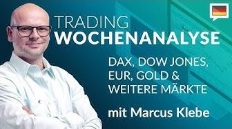 Trading Wochenanalyse für KW14/2020 mit Marcus Klebe - DAX - DOW - EUR/USD - Gold #Chartanalyse