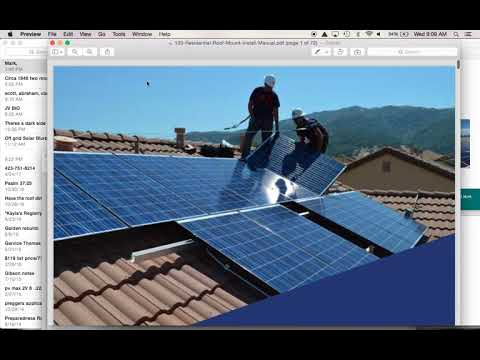 How to install Solar :  Solar Roof Mount Racking 101