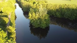 Die Insel im Ems Jade Kanal in Aurich Ostfriesland Eems-Jadekanaal DJI Mavic Mini Quadrocopter