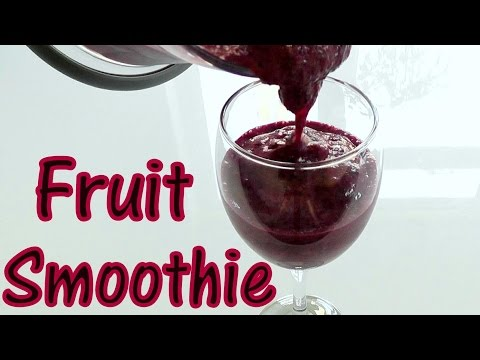 FRUIT SMOOTHIE How to make HEALTHY recipe Perfect!