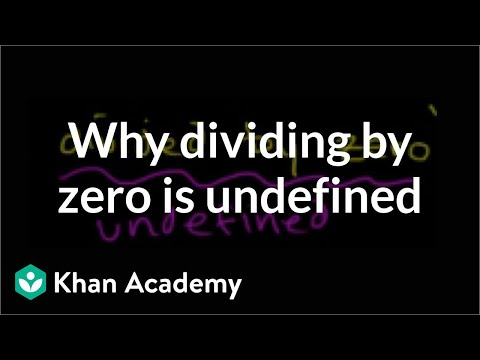 Why dividing by zero is undefined | Functions and their graphs | Algebra II | Khan Academy