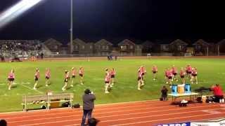 Central Valley Bears vs University High School Titans Greasy Pig Football Game . CV Cheer Team 2015