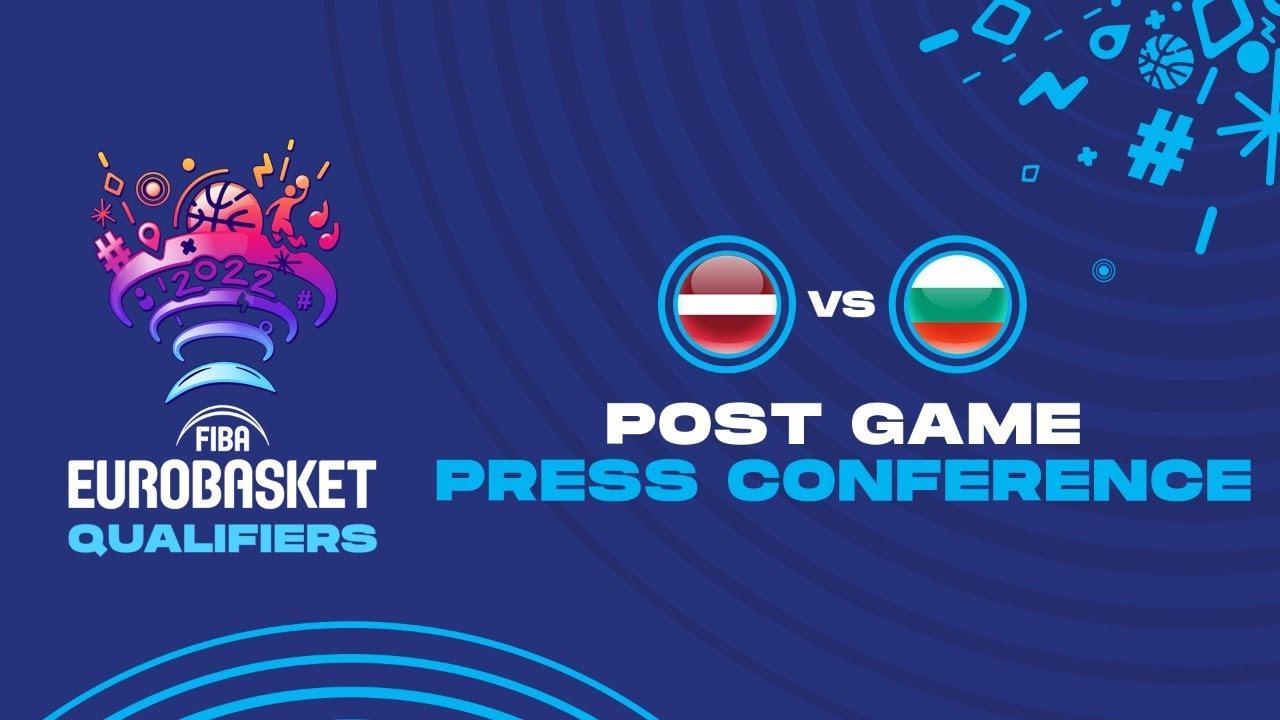 Latvia v Bulgaria - Press Conference - FIBA EuroBasket Qualifiers 2022