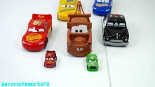 Disney Cars Arabalar Oyuncakları, Şimşek Mekkuin Oyuncakları Süper Kahramanlar, Sürpriz Yumurta TV