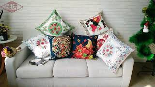 Embroidery Macrame, Printed Cushion Pillow Cover For Decoration