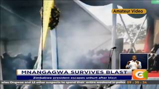 President Mnangagwa, PM Abiy Ali survive blasts in rally