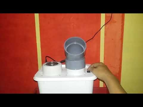 Kipas Angin Kabut Humidifier DC24V Mist Fan Ultrasonic Ember Ice Cream Container