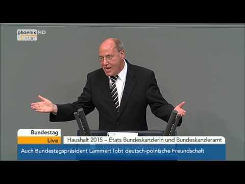 Bundestag: Kanzleramtsetat /Generalaussprache (Teil 1) mit Gregor Gysi & Angela Merkel am 10.09.2014