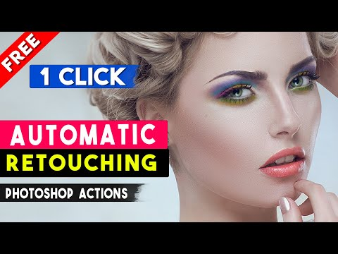 1-Click Automatic Magic Skin Retouching Actions By Shazim Tricks