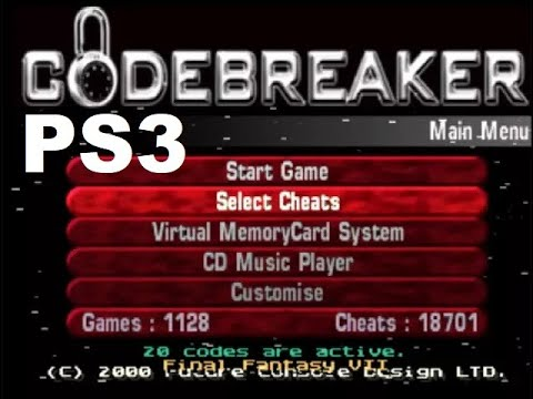 Codebreaker em jogos de PS1 - PS3