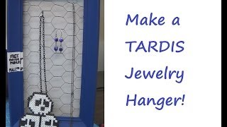 Sewing Nerd! - Tutorial: How To Make A Tardis Jewelry Hanger !