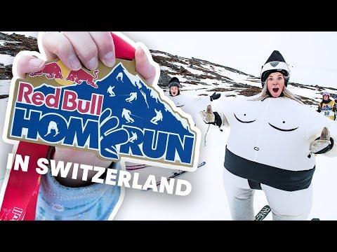 Crazy Mass Start Skiing Race In Switzerland | Red Bull Homerun 2019
