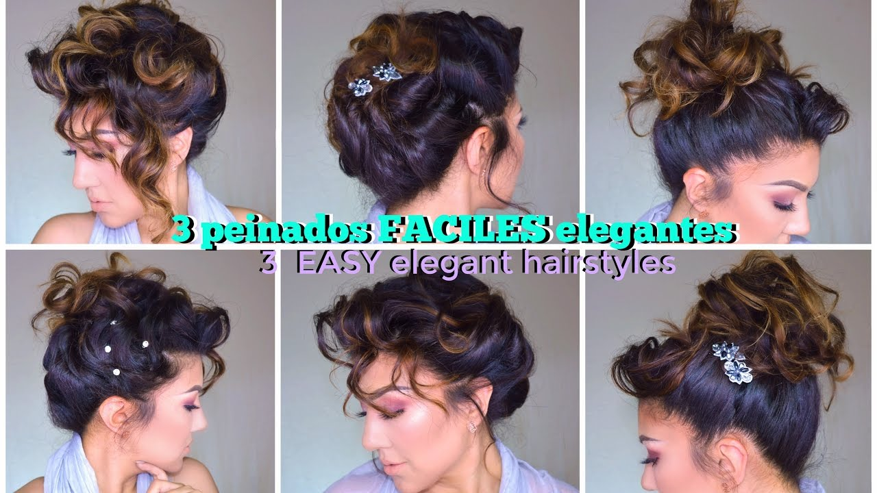 peinados faciles para fiesta easy formal updo hairstyles tutorial short hair