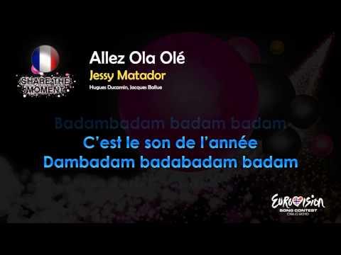 """Jessy Matador - """"Allez Ola Olé"""" (France) - [Karaoke version]"""