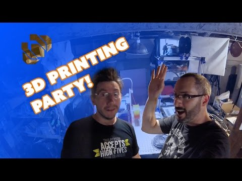 3D Printing Party at the Punished Props Shop!