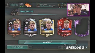 COOKING UP 99 BACON EP. 3 | PROMOTION & INTENSE MATCHES!! (Zero to Hero) | FIFA 18 Mobile