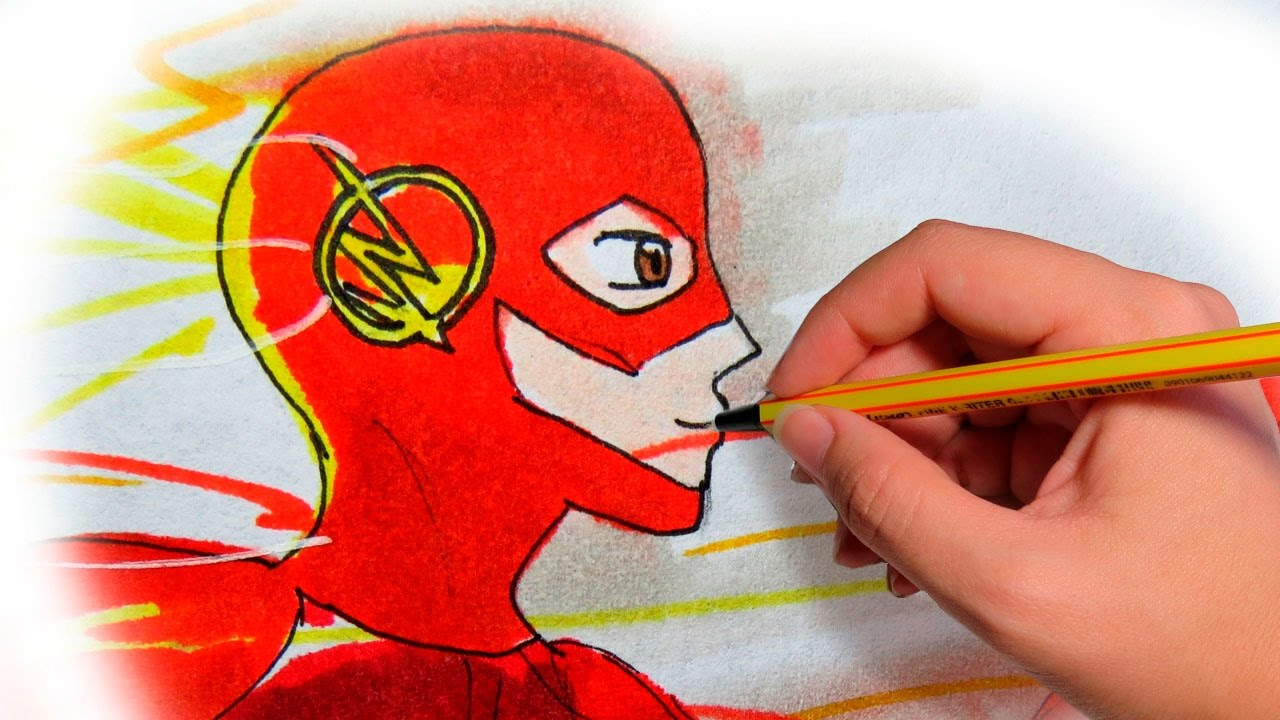 Como Dibujar Anime The Flash Dibuja A Los Superheroes En Manga