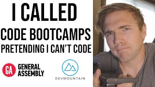 calling code bootcamps pretending I can't code...(They STRUGGLE pretty hard)