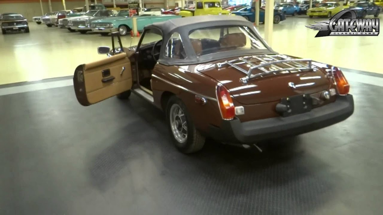 1980 mg b for sale at gateway classic cars in our st louis mo showroom youtube. Black Bedroom Furniture Sets. Home Design Ideas
