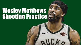 新加入 スイングマン ウェズリー・マシューズ 試合前シュート練習  Wesley Matthews,Jr. Shooting Pracitce Before the game