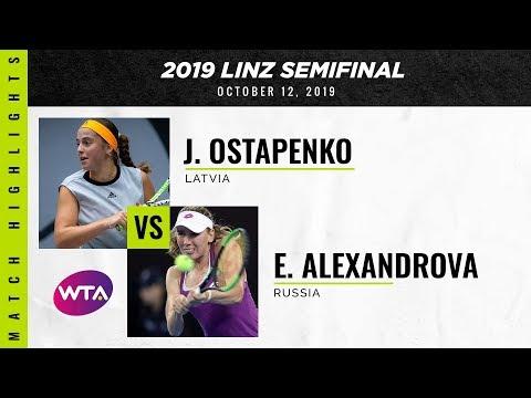 Jelena Ostapenko vs. Ekaterina Alexandrova | 2019 Linz Semifinal | WTA Highlights