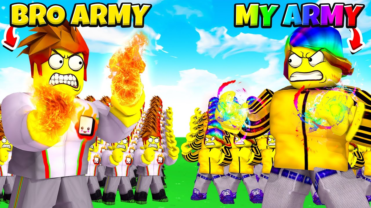 Download Roblox BROTHER Clone Army BATTLE for $100,000 ROBUX.. ⚔️🤑