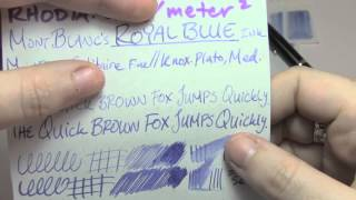 Ink Review: MontBlanc Royal Blue Ink
