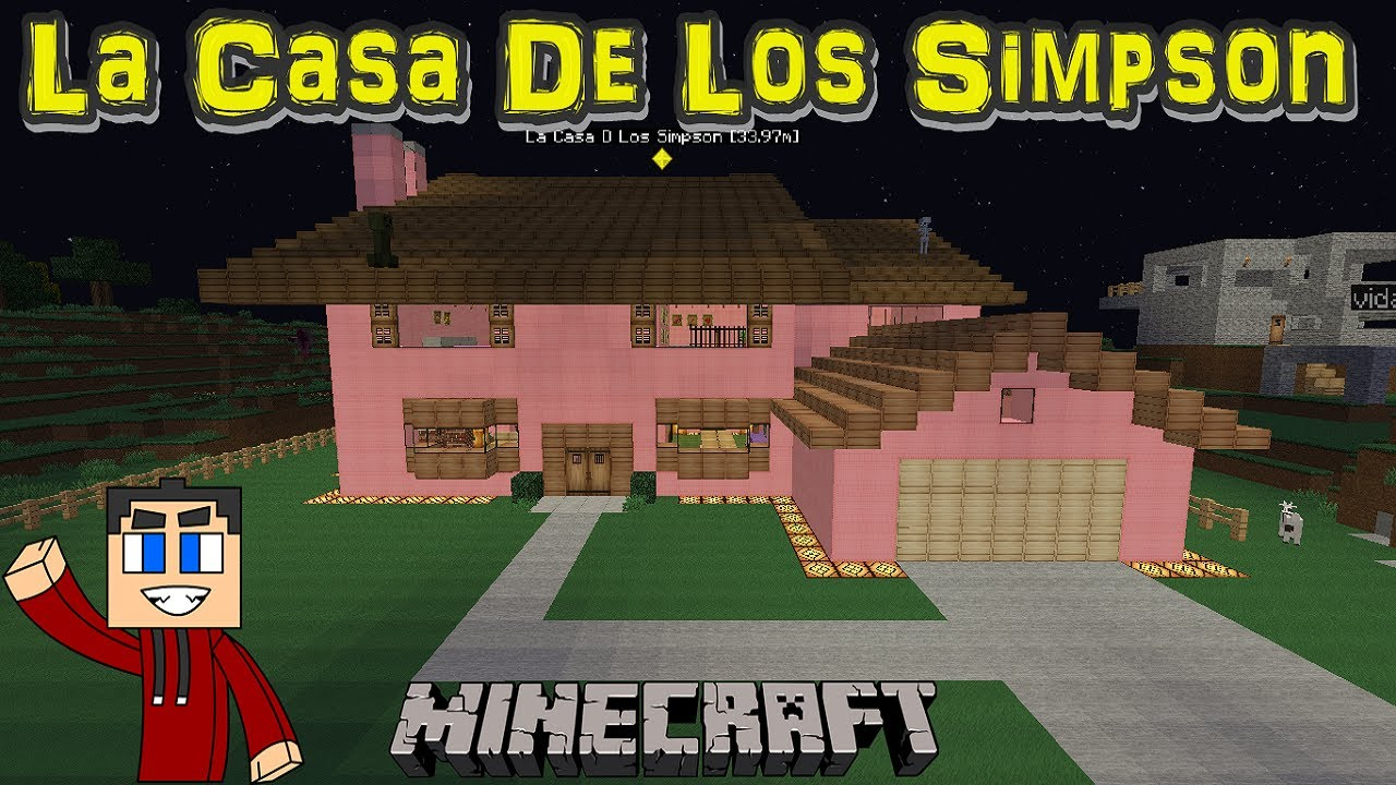 la casa de los simpson completa minecraft youtube