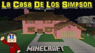 La casa de los simpson completa minecraft