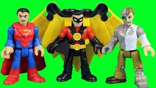 Imaginext Metallo Tries To Take Over Gotham City Center But Superman & Red Robin Save The Day