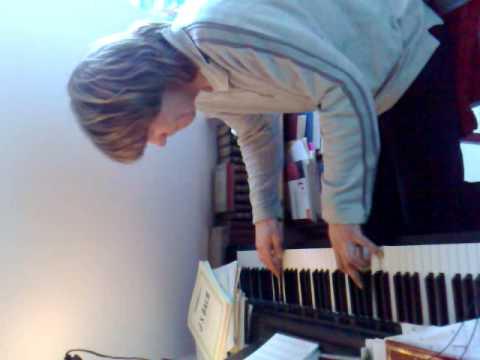 Playing Piano by Henrik Hansen