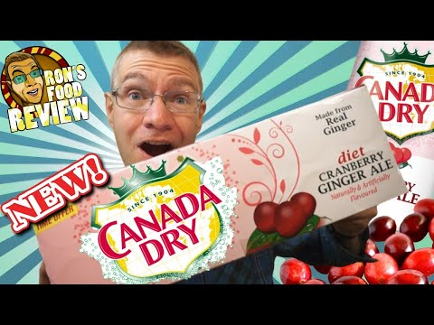 LIMITED EDITION CANADA DRY CRANBERRY GINGER ALE!! TASTE AND REVIEW!!